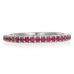 Ruby bead set band