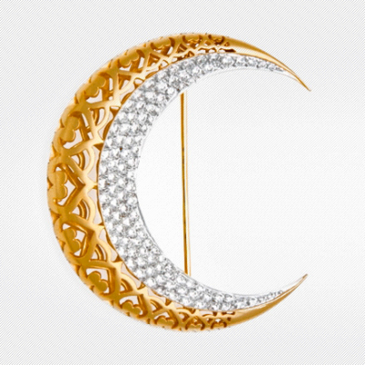 MOON BROOCH IV